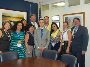 Here, Debbie (far left) and other NNCCF and Nevada representatives meet with Nevada Senator Dean Heller during Childhood Cancer Action Days. (Photo courtesy of the Northern Nevada Children's Cancer Foundation).